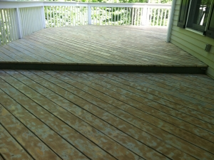 Deck in Wilton ~ Before