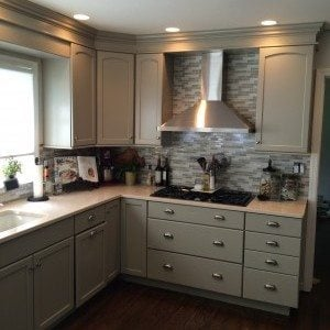 Refinished Kitchen Cabimets