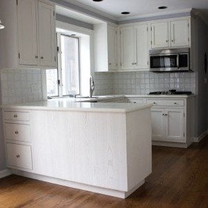 Prior to refinishing cabinets